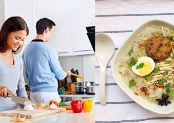 Tự làm một bữa ăn sáng cho chồng