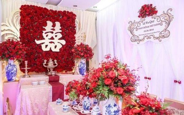 Cách trang trí chữ Song hỷ trong đám cưới